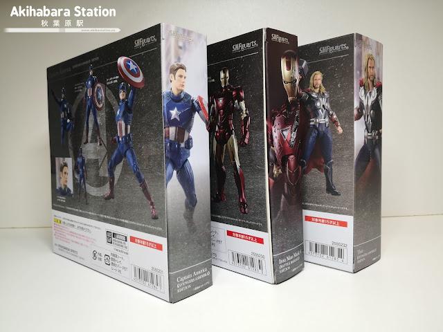 Review del S.H.Figuarts Captain America y Thor - Avengers Assemble - e Iron Man mk6 Battle Damage ed.