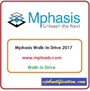 Mphasis Walk-In Freshers Voice & Non Voice Process jobs in Bangalore 1st-12th Nov'2017