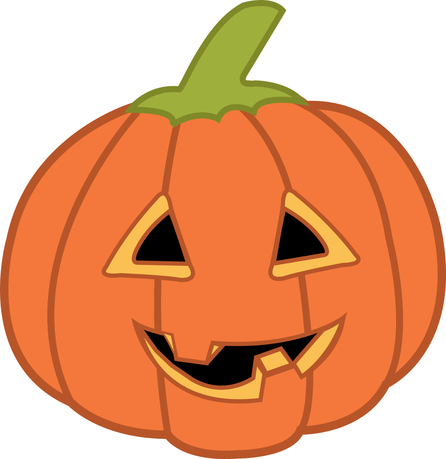 Halloween Pumpkin Clipart. | Oh My Fiesta! in english