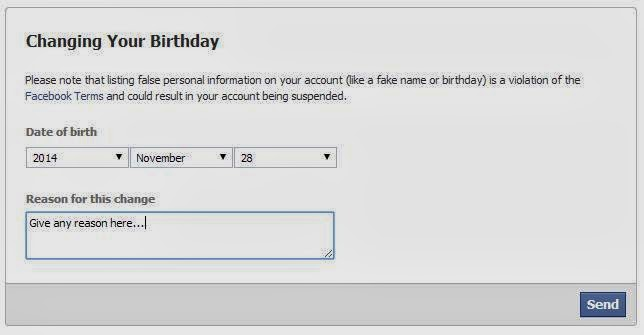 How to change your dob on facebook