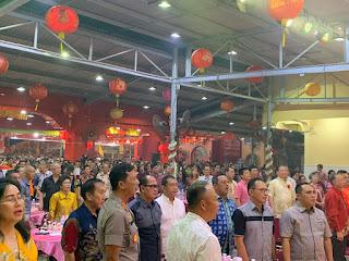 Kegiatan Acara Cap Go Me Di Makin Klenteng Hok Kheng Tong KONI IV Kota Jambi, Dihadiri Oleh Kapolresta Dan Pejabat Utama Polda Jambi
