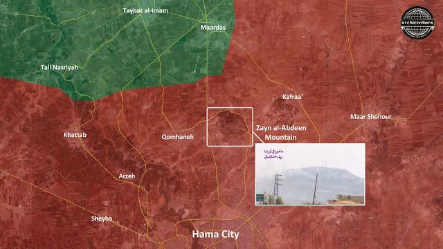 posisi rezim di pegunungan zaenal abidin utara Hama