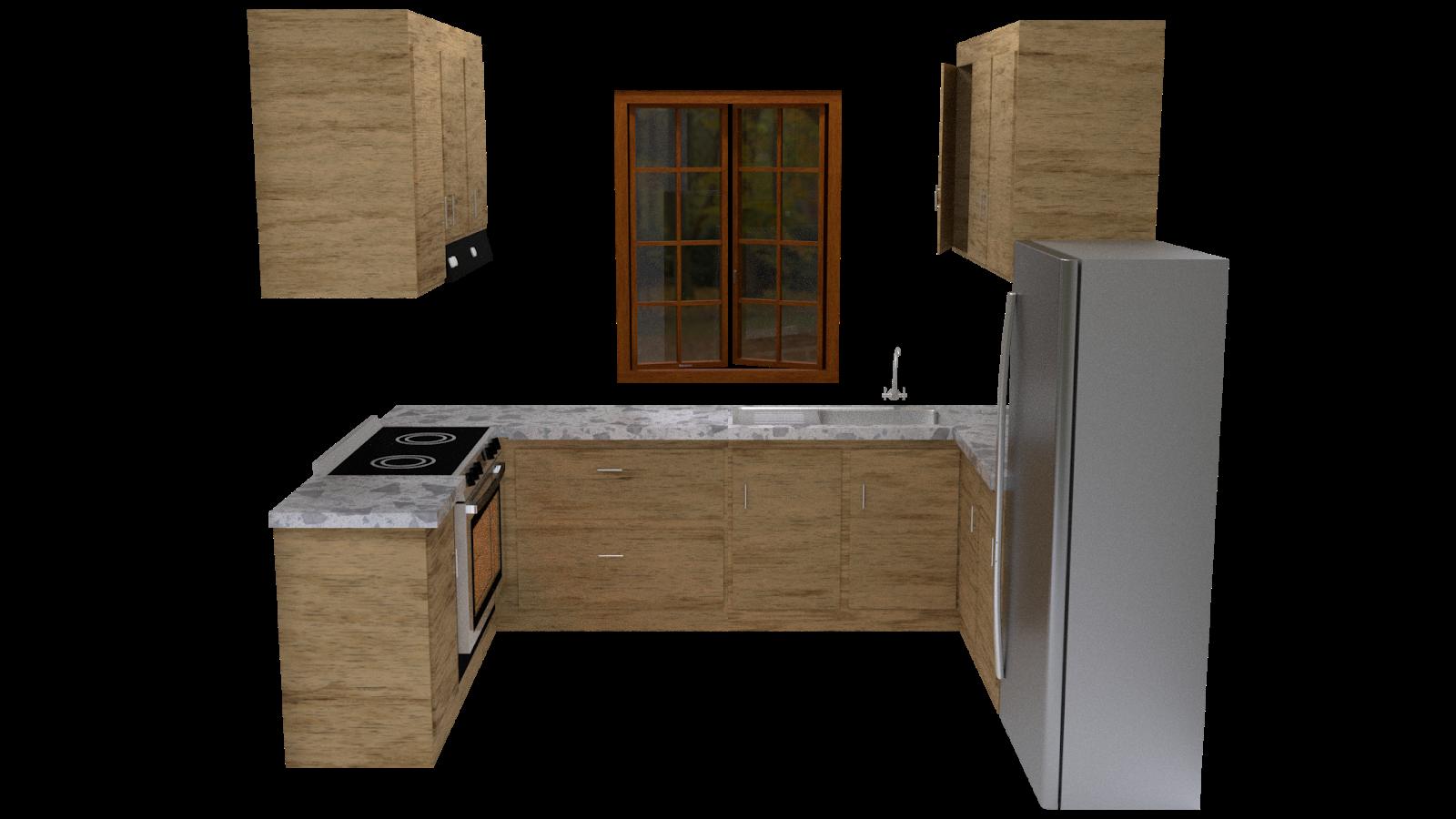 Free 3D Kitchen Set CC0 3DS - Free 3D Models Under Public Domain