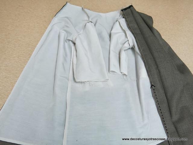 como forrar un vestido con mangas