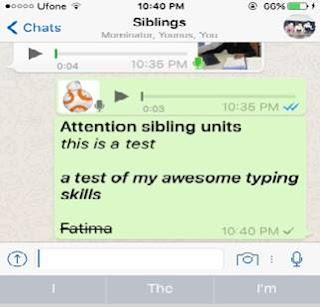 """إليك معلومة كيفية تنسيق النصوص في الواتس آب """"WhatsApp"""""""