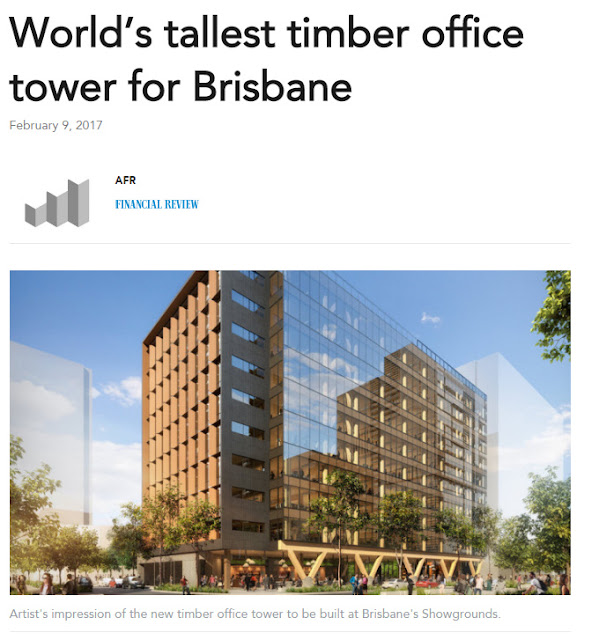 World's tallest timber office tower for Brisbane