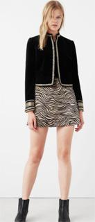 Falda de pelo en diseño animal de Mango 2017