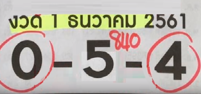 Thai Lottery 3up Final VIP Tips For 16-12-2018 | Thailand Lotto Result