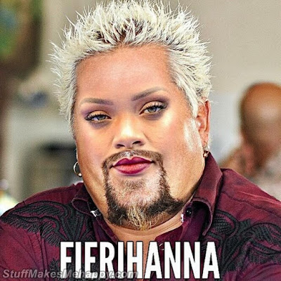 Rihanna and Guy Fieri