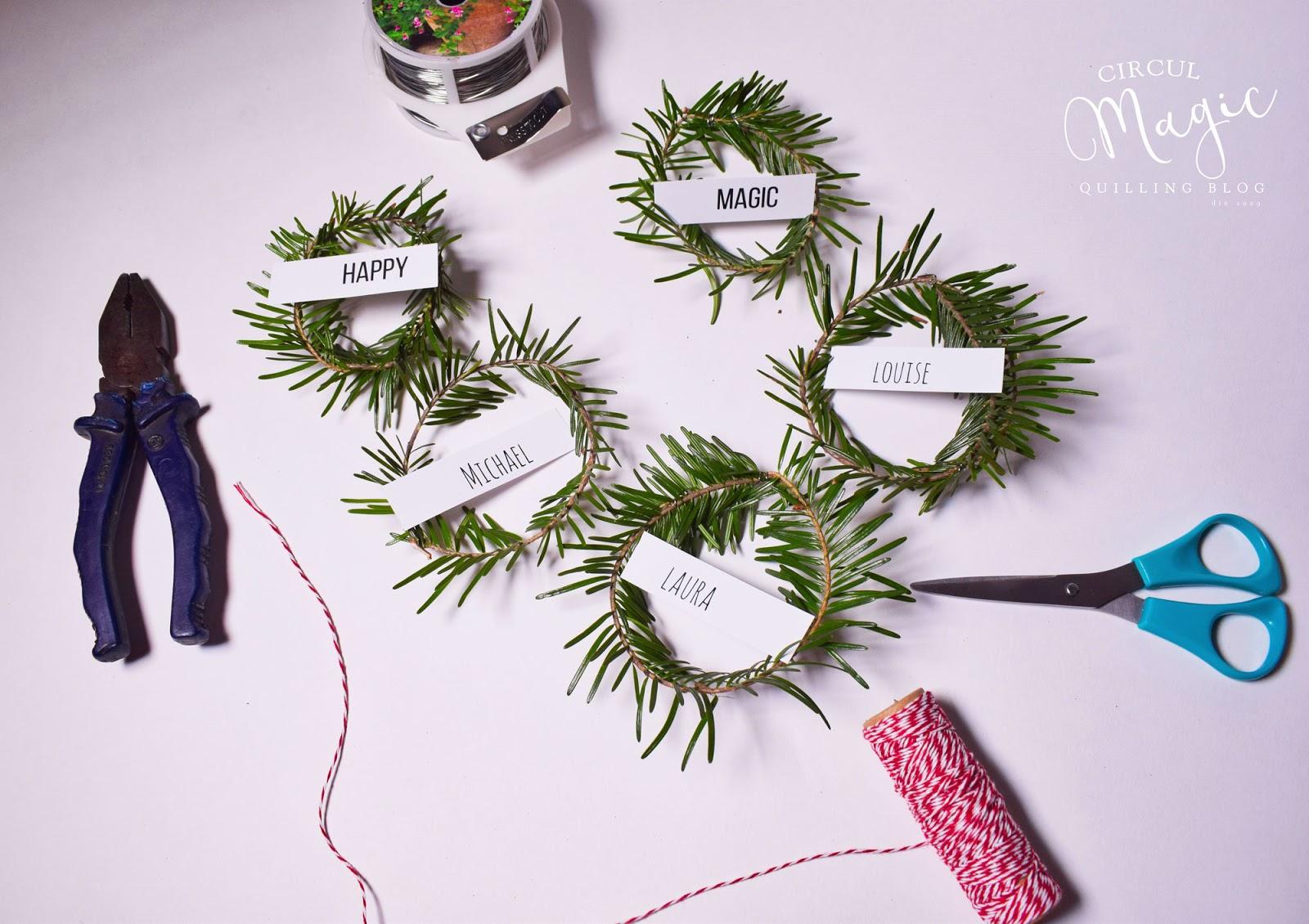 Tutorial DIY: mini coronite din brad pentru decorarea cutiilor de cadou