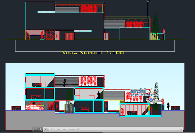 Joint houses in AutoCAD