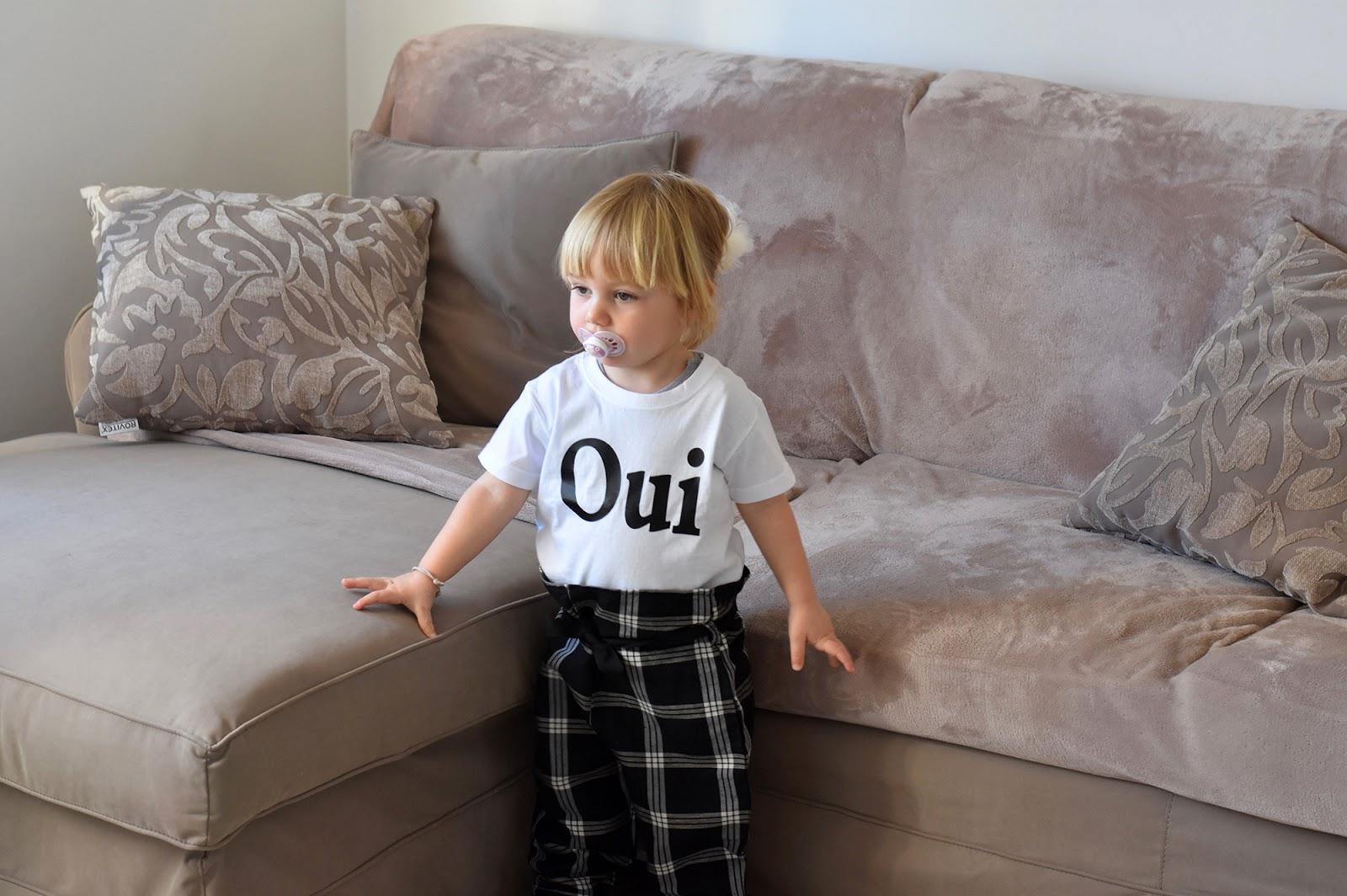 maglietta bimba oui