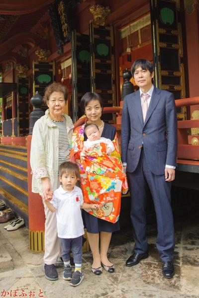 お宮参り・お食い初めの出張撮影 @東京都文京区・根津神社