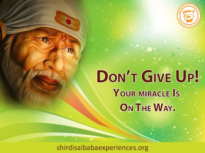 Sai Baba's Blessings For Son's School Admission
