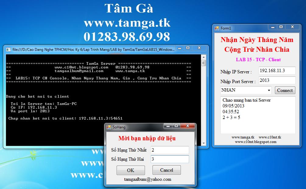 lập trình mạng Windows Form & TCP Console C#