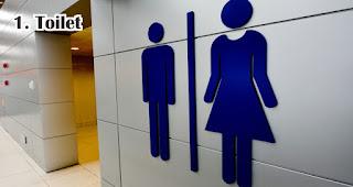 Toilet menjadi tempat yang paling banyak terdapat bakteri di kantor