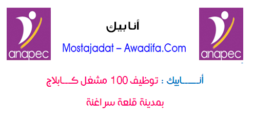 الوكالة الوطنية لإنعاش التشغيل والكفاءات: توظيف 100 مشغل كابلاج بمدينة قلعة سراغنة
