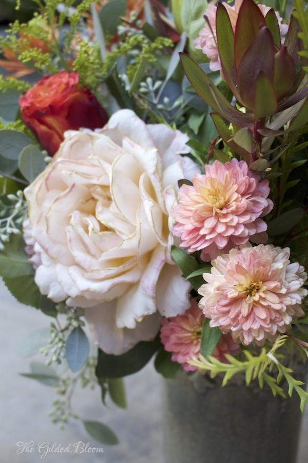 Creating a Fall Garden Floral- www.gildedbloom.com