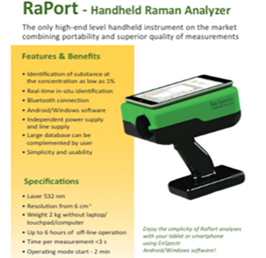 In situ analysis of cave wall specimens with Raman spectroscopy (Source: RaPort brochure)