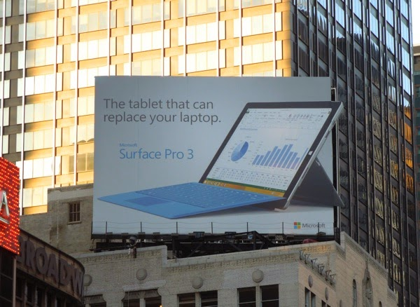 Surface Pro 3 billboard Times Square