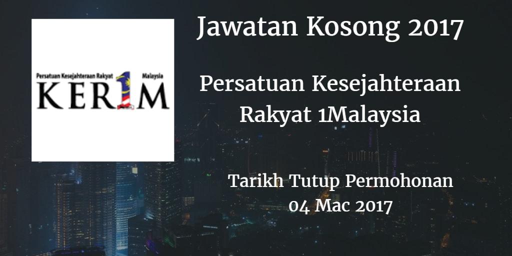 Jawatan Kosong KER1M 04 Mac 2017