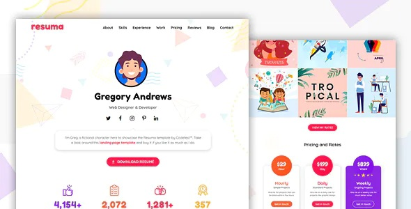 Best Personal Landing Page Template