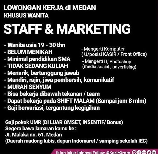 contoh iklan lowongan pekerjaan marketing