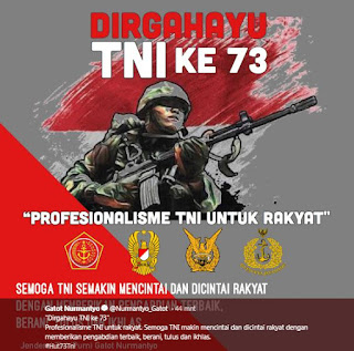 Kata Kata Ucapan Dirgahayu TNI Ke 73 Tahun 2018