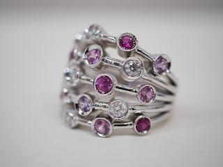 シャネルのダイヤモンド入りマルチストーンリングをお買い取り致しました