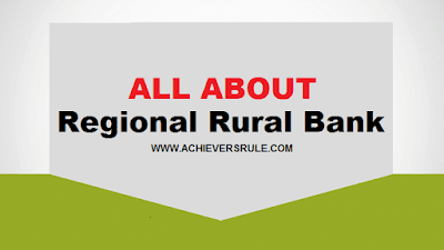 All About Regional Rural Banks - One Liner Bites