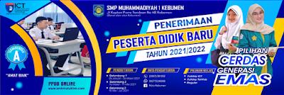 BANNER PPDB SEKOLAH 2021/ 2022