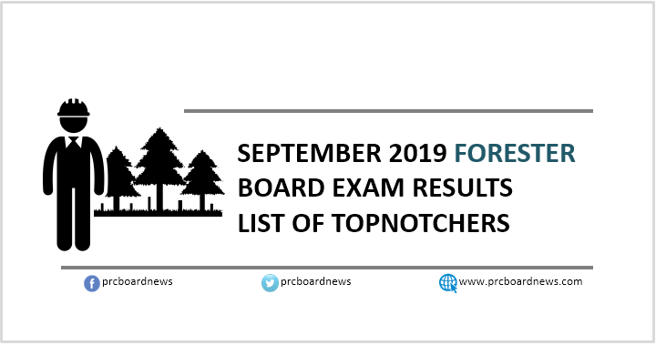 RESULT: September 2019 Forester board exam top 10 passers