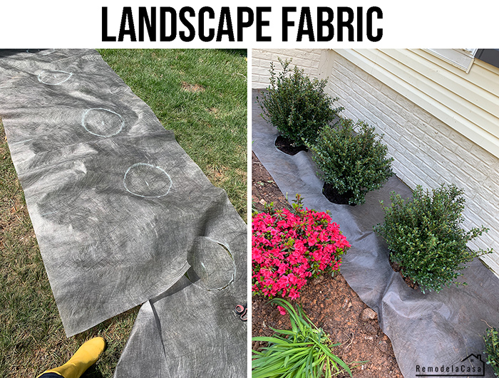How to use landscape fabric on a flower bed.