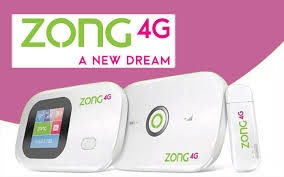 Zong 4G Device And Packages.