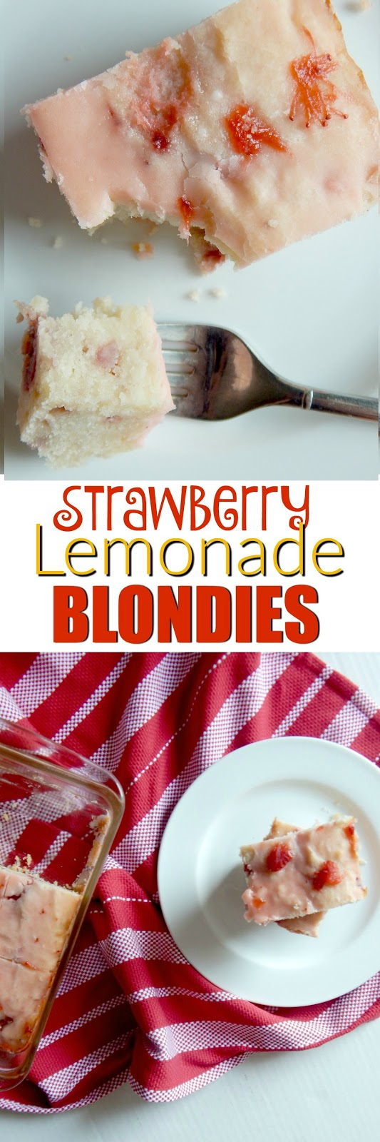 strawberry lemonade blondies