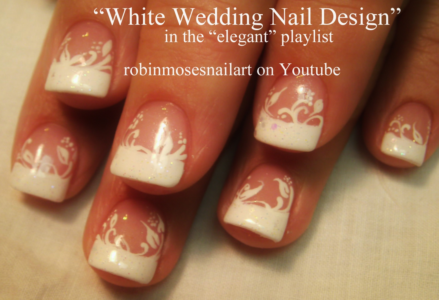 Nail Art by Robin Moses: White Flower Nails, Perfect wedding nails ...