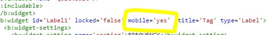 codice html per visualizzare widget versione mobile