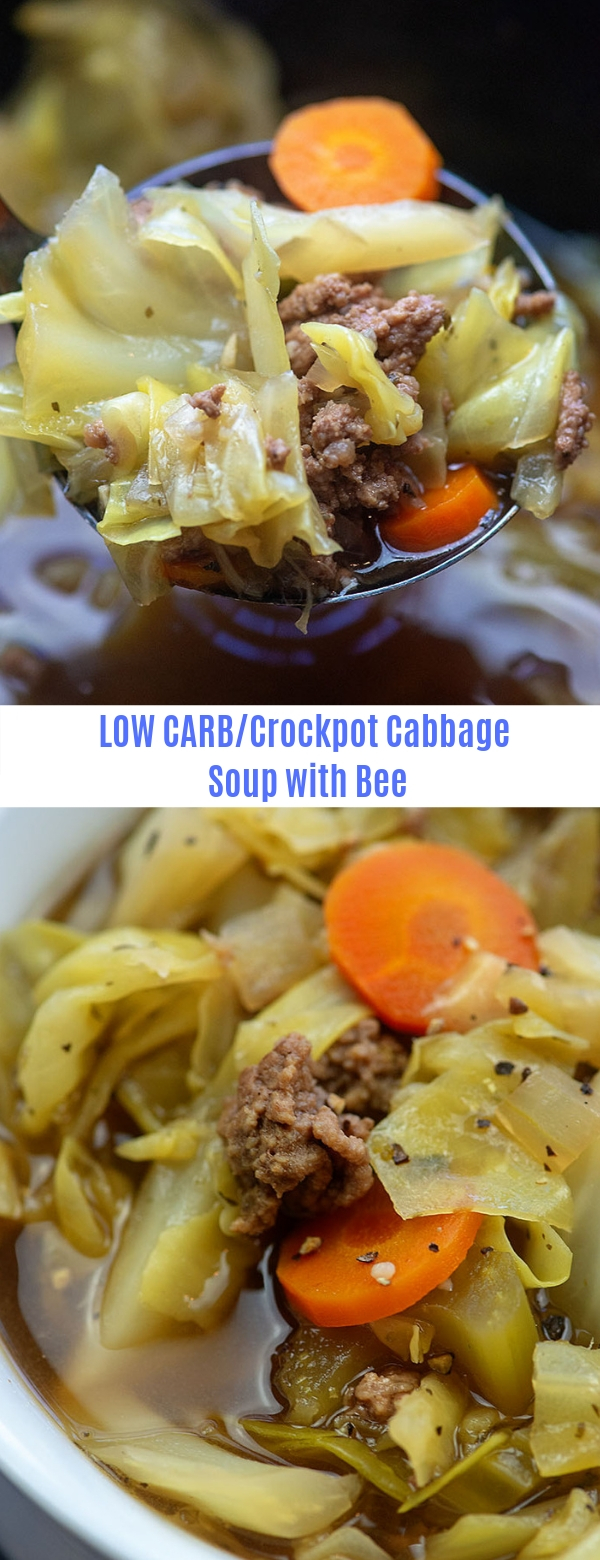 LOW CARB/Crockpot Cabbage Soup with Beef