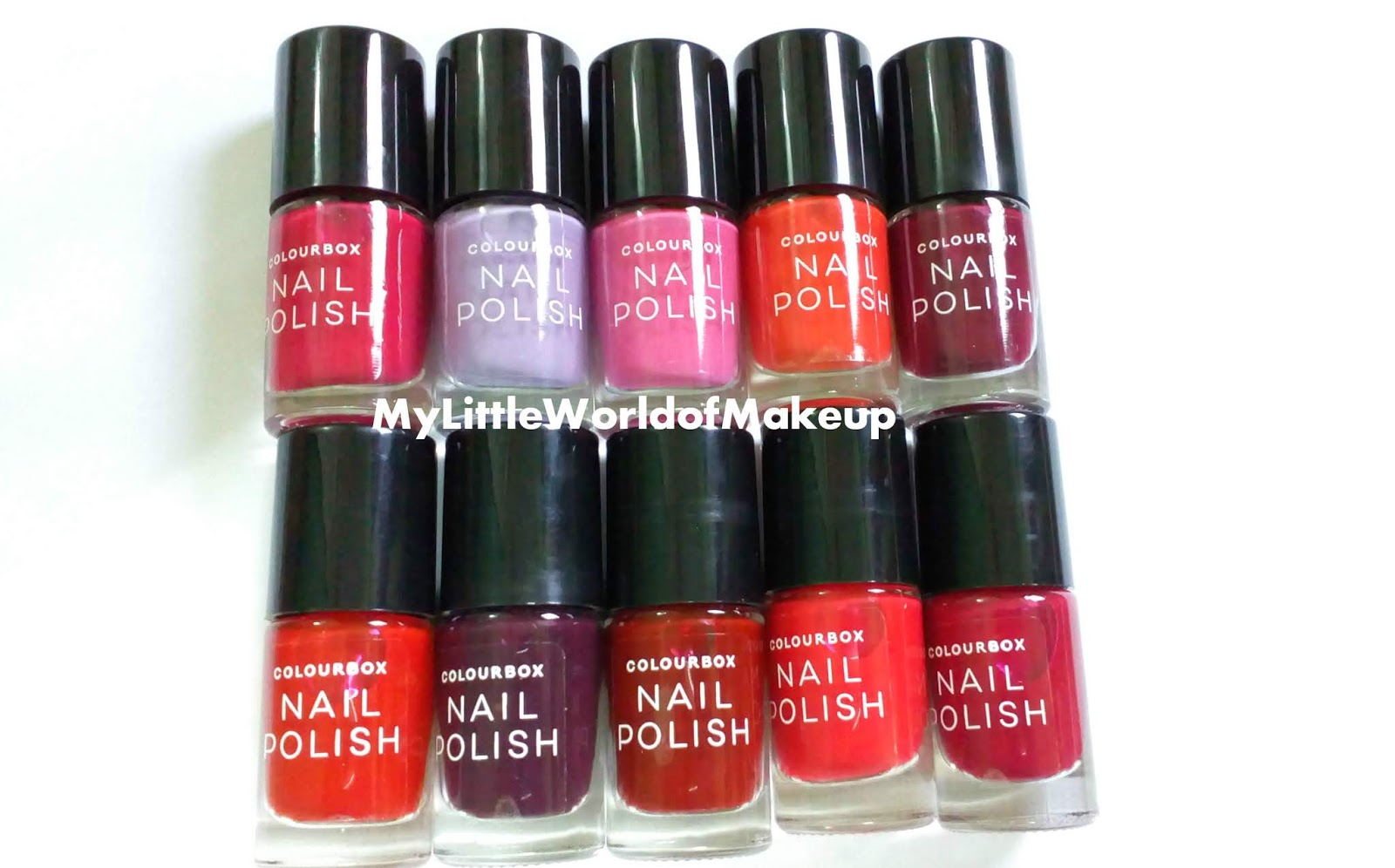 Colourbox Nail Polishes Review Swatches
