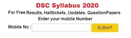 DSC Syllabus 2020