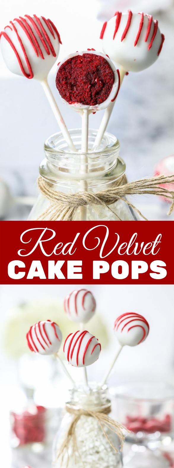 Red Velvet Cake Pops Recipe #desserts #partyrecipe