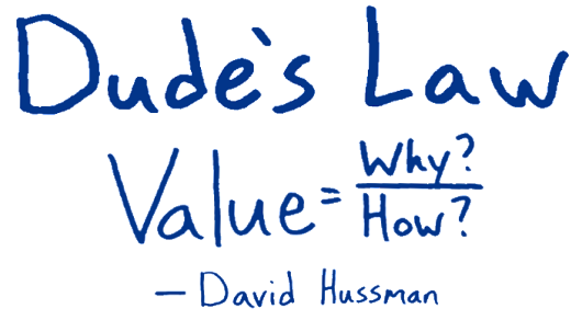 Practical Application of Dude's Law: The Value Estimation Game
