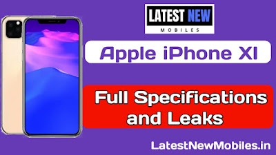 Apple iPhone XI full specifications