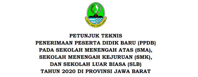 Jadwal Pendaftaran, Zonasi dan Juknis PPDB Provinsi Jawa Barat Tahun Pelajaran 2020/2021