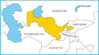 Карта на Централна Азия