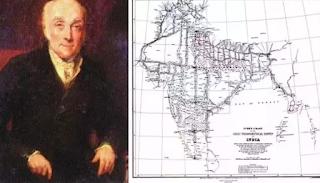 William Lambton and British India map.