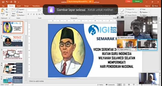 Selamat Kepada Guru Yang Telah Mengikuti Kegiatan Webinar Bersama IGI Sulawesi Selatan di Hari Pendidikan Nasional 2020