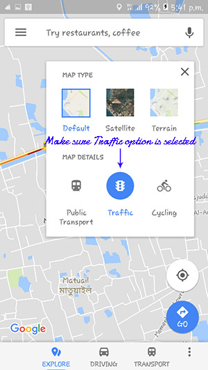 How to Enable Live Traffic on Google Maps