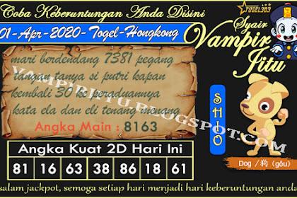 Syair Vampir Jitu Togel Hongkong Rabu 01 April 2020