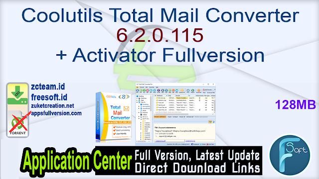 Coolutils Total Mail Converter 6.2.0.115 + Activator Fullversion